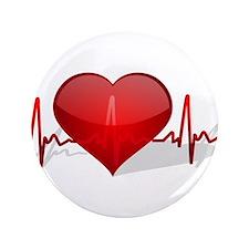 """heart beat 3.5"""" Button"""