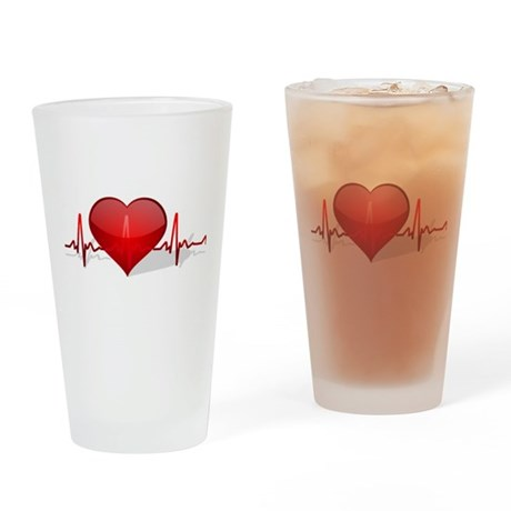 heart beat Pint Glass