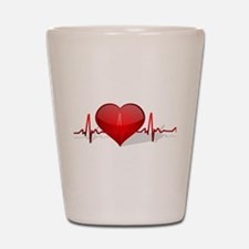heart beat Shot Glass