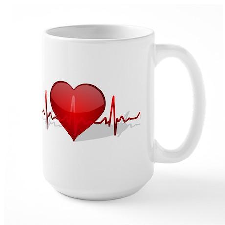 heart beat Large Mug