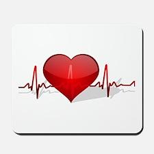 heart beat Mousepad