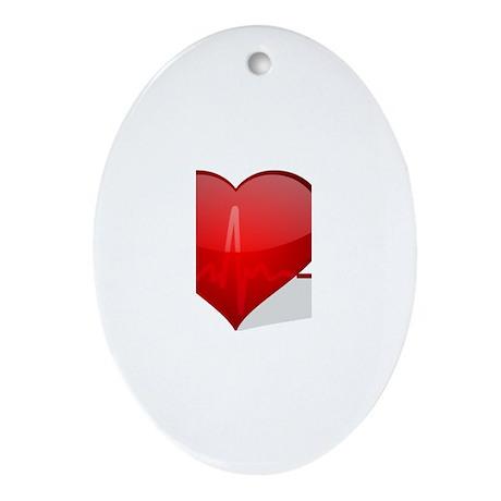heart beat Ornament (Oval)
