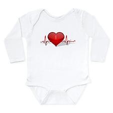heart beat Long Sleeve Infant Bodysuit