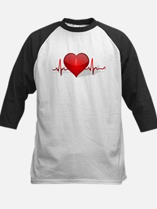 heart beat Kids Baseball Jersey