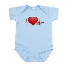 heart beat Infant Bodysuit