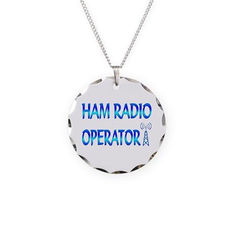 Ham Radio Necklace Circle Charm