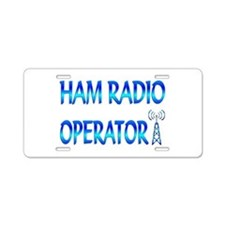 Ham Radio Aluminum License Plate
