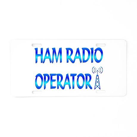 Ham Radio Aluminum License Plate