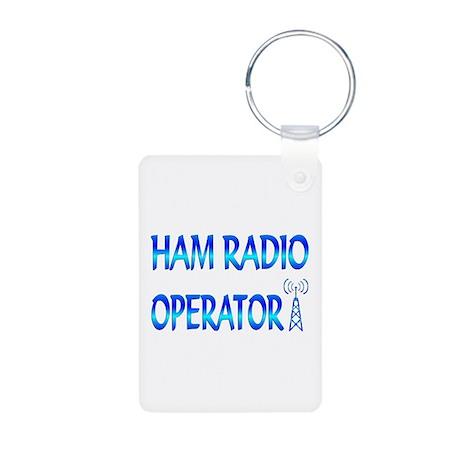 Ham Radio Aluminum Photo Keychain