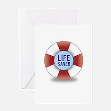 Life saver Greeting Card