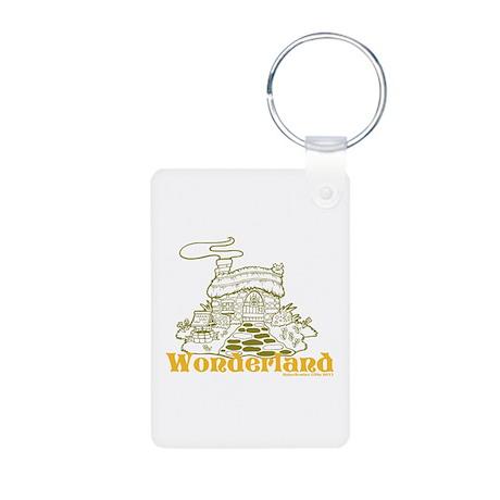 Wonderland Cottage Aluminum Photo Keychain