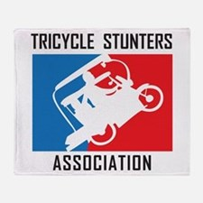 Tricycle Stunters Association Throw Blanket