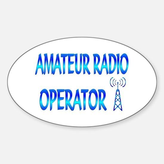 Amateur Radio Sticker (Oval)