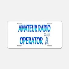Amateur Radio Aluminum License Plate
