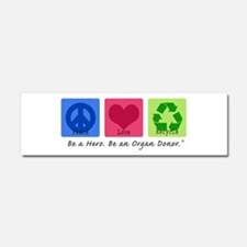 Peace Love Recycle Car Magnet 10 x 3