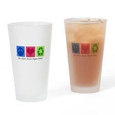 Peace Love Recycle Pint Glass