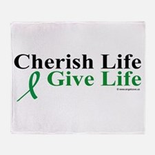 Cherish and Give Throw Blanket