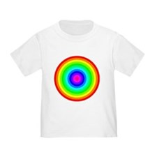 Rainbow Concentric Circles T