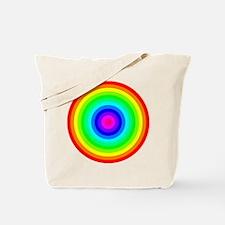 Rainbow Concentric Circles Tote Bag