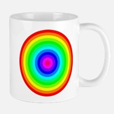 Rainbow Concentric Circles Mug