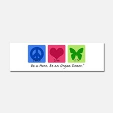 Peace Love Life Car Magnet 10 x 3