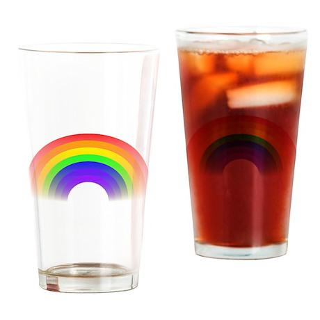 Faded Rainbow Pint Glass