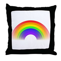 Faded Rainbow Throw Pillow