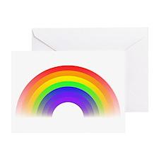 Faded Rainbow Greeting Card