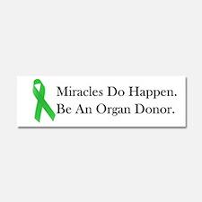 Green Ribbon Miracle Car Magnet 10 x 3