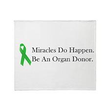 Green Ribbon Miracle Throw Blanket