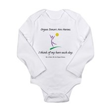 Inside-Out Donor Thanks Long Sleeve Infant Bodysui