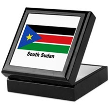 South Sudan Flag Keepsake Box
