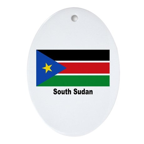 South Sudan Flag Ornament (Oval)