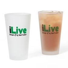 iLive Heart Pint Glass