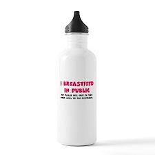 I breastfeed in public Water Bottle