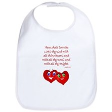 Hearts for God Bib