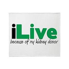 iLive Kidney Throw Blanket