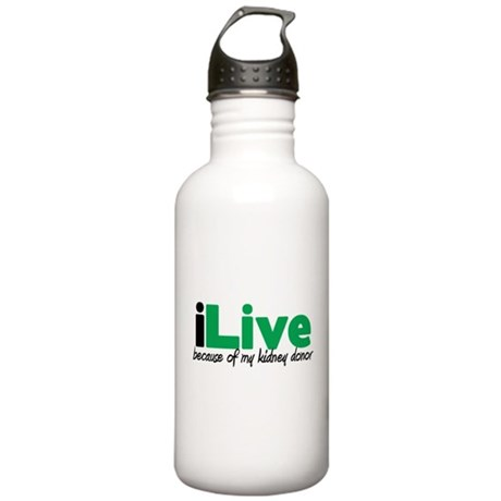 iLive Kidney Stainless Water Bottle 1.0L
