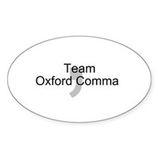 Team OxfordComma Decal