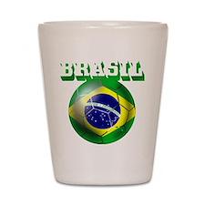 Brazil Brasil Football Shot Glass