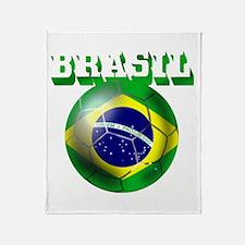 Brasil Football Throw Blanket