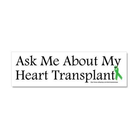 Ask Me Heart Car Magnet 10 x 3