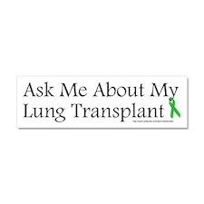 Ask Me Lung Car Magnet 10 x 3
