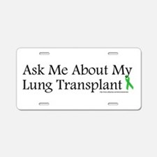Ask Me Lung Aluminum License Plate