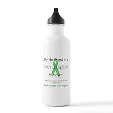 Husband Heart Transplant Water Bottle