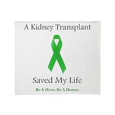 Kidney Transplant Suvivor Throw Blanket