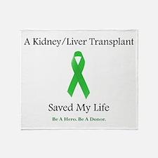 Kidney/Liver Transplant Throw Blanket