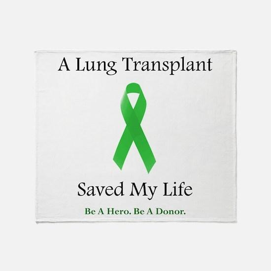 Lung Transplant Survivor Throw Blanket