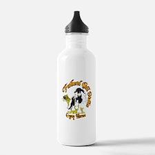 Funny Gypsy vanner horses Water Bottle
