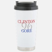 Clinton Gore 1996 Stainless Steel Travel Mug